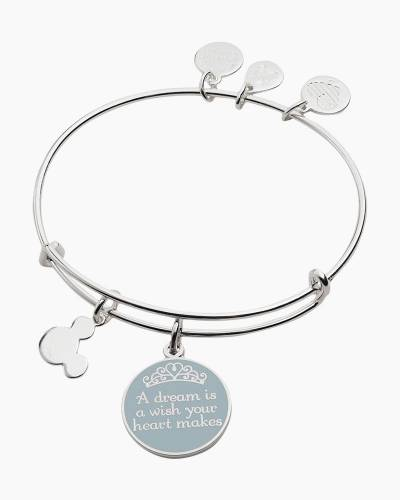 Disney A Dream is a Wish Your Heart Makes Charm Bangle in Shiny Silver