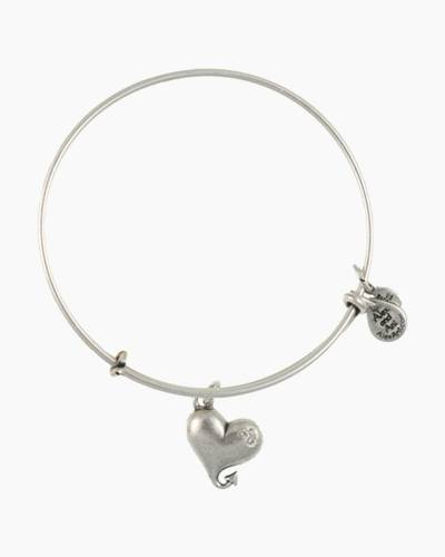 Cupid's Heart Charm Bangle