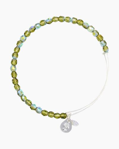 Moss Color Beaded Bangle