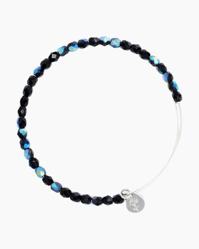Midnight Color Beaded Bangle