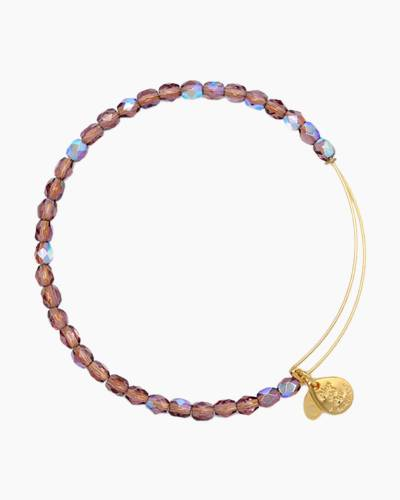 Amethyst Color Beaded Bangle