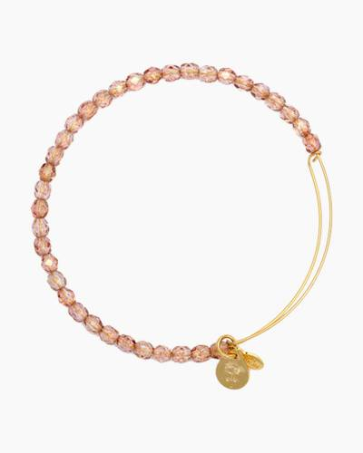 Blush Color Beaded Bangle