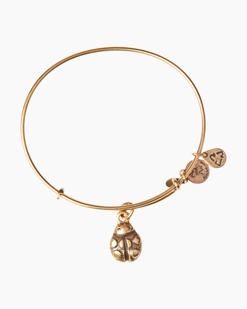 Alex and Ani Ladybug Charm Bangle in Rafaelian Gold Finish