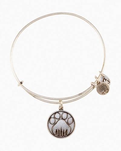 Paw Print Charm Bangle Bracelet