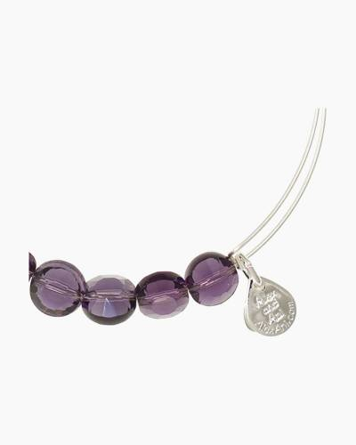 Amethyst Luxe Beaded Bangle
