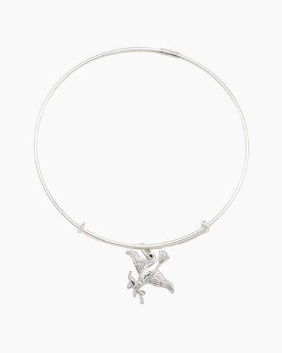 Virtuous Dove Charm Bangle