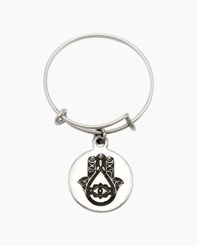 Hand Of Fatima Spiritual Imprint Expandable Wire Ring