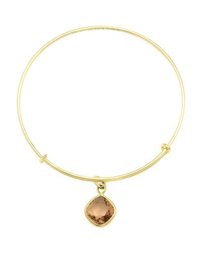 Light Smokey Topaz Clarity Charm Bangle