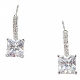 The Paper Store Clear Square Drop Earrings