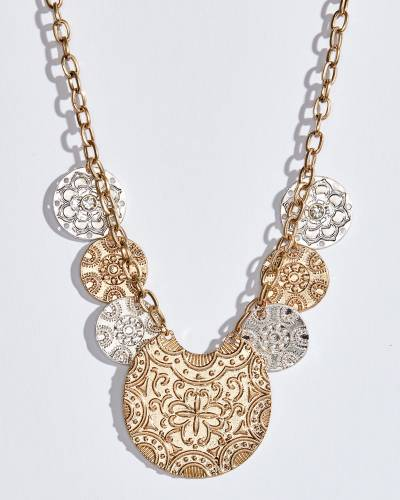 Two-Tone Medallions Necklace