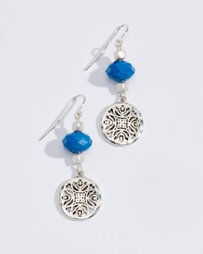 Beaded Filigree Charm Earrings