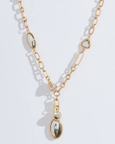 Exclusive Short Mirrored Necklace in Gold