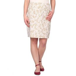 Lulu B Khaki Flowers Skirt