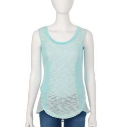 Mad About Style Aqua Pleated Back Tank Top