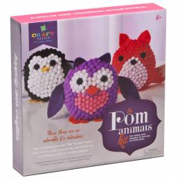 Ann Williams Group Craft-tastic Pom Stuffed Animals Kit