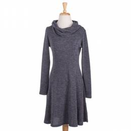 Neesha Charcoal Cowl Neck Dress