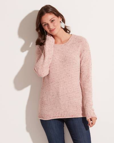 Exclusive Speckled Sweater in Pink
