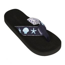 Tidewater Sandals Blue Shells Women's Sandals