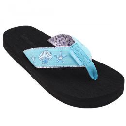 Tidewater Sandals Turquoise Shell Women's Sandals