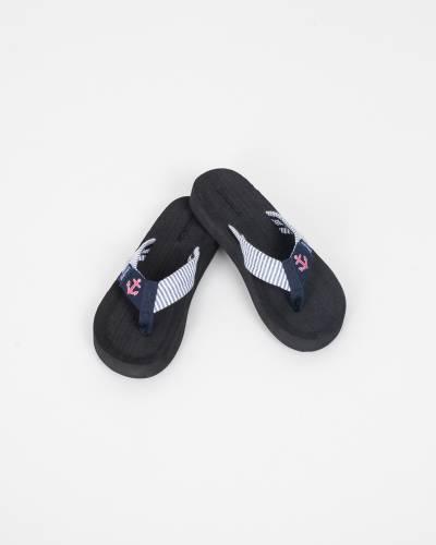 Pink Anchor Flip Flops