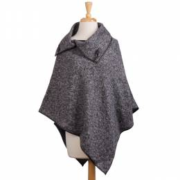 The Paper Store Tweed Poncho