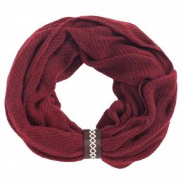 Justin and Taylor Infinity Scarf with Leather Cuff