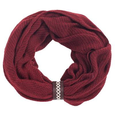 Infinity Scarf with Leather Cuff
