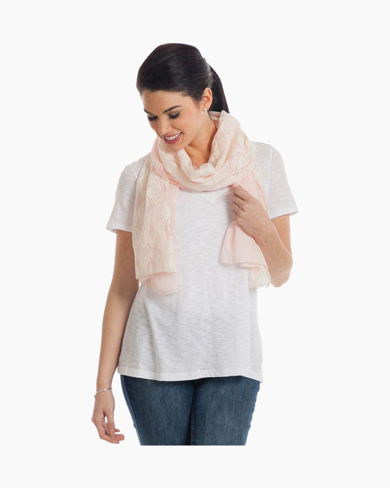 Contempo Lace-Trim Scarf