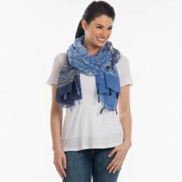 Contempo Paisley Print Scarf with Tassels