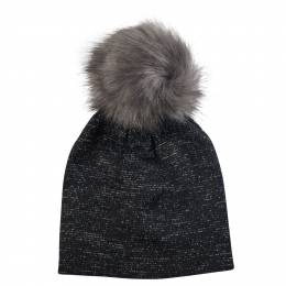 Contempo Metallic Pom Pom Hat