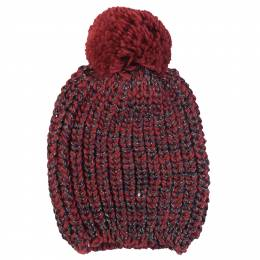 Contempo Sequin Knit Hat in Burgundy