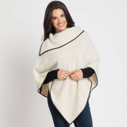 Contempo Asymmetrical Zipped Poncho