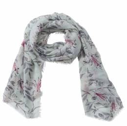 The Paper Store Mint Floral Print Scarf