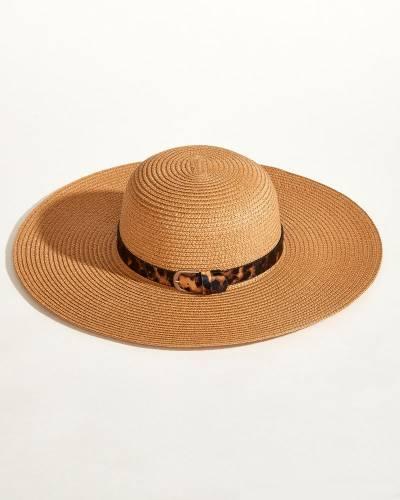 Leopard Print Belt Sun Hat