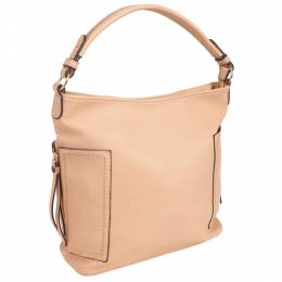 MMS Trading Side Zip Hobo Bag