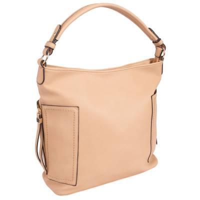 Side Zip Hobo Bag