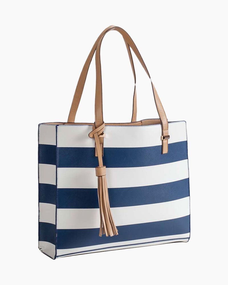 MMS Trading Oversized Stripe Tote