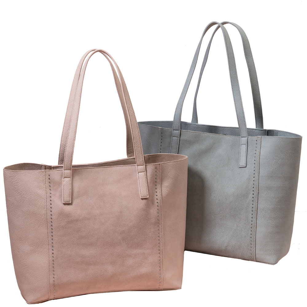 MMS Trading Suede Panel Tote