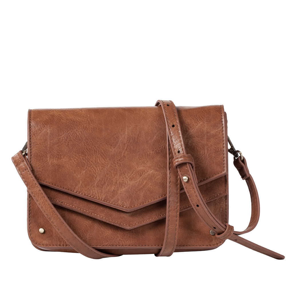 MMS Trading Double Flap Crossbody Bag