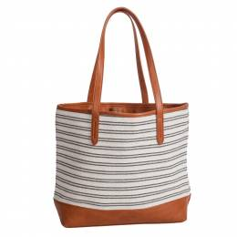 MMS Trading Stripe Tote in Ivory