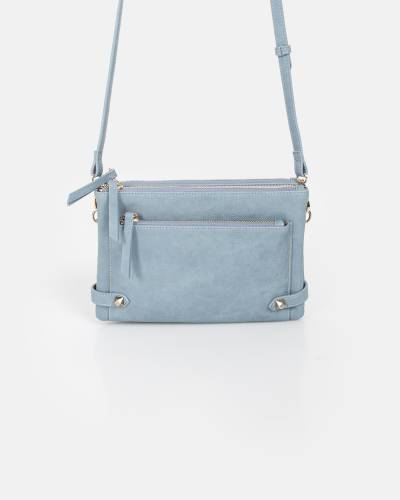MMS Trading Marilyn Zipper Crossbody in Denim a9c5b9f95662c