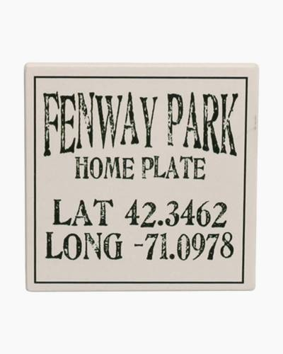 Fenway Park White Ceramic Coaster