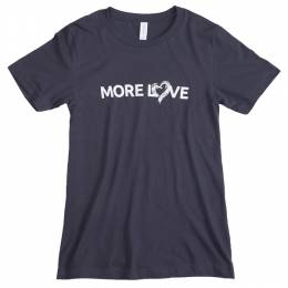 The Paper Store More Love Men's Tee in Dark Grey