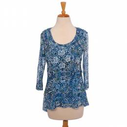 Skye's the Limit Blue Floral Layered Top