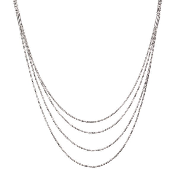 Mia and Tess Four Layer Matte Chain Necklace