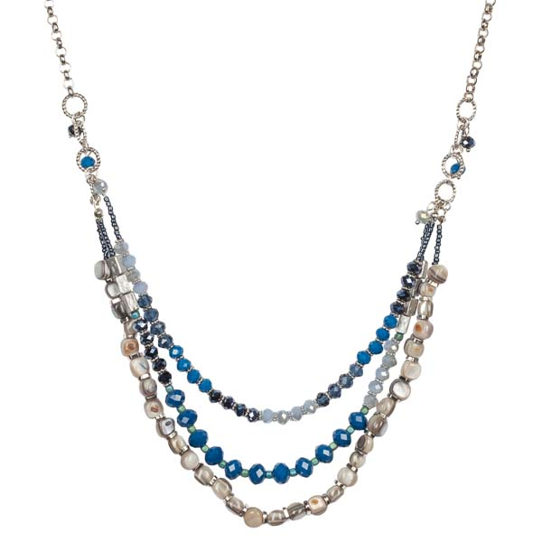 Mia and Tess Three Layer Beaded Necklace