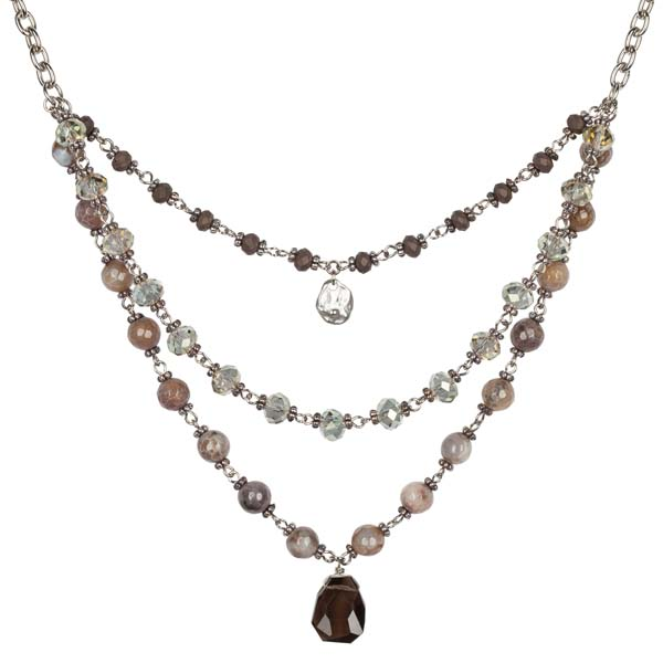 Mia and Tess Three Layer Drop Necklace