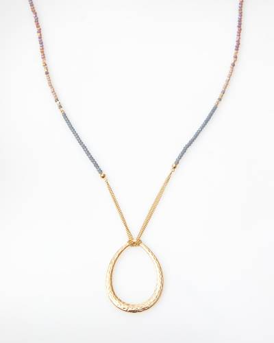 Exclusive Beaded Chain Teardrop Necklace