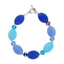 The Paper Store Cobalt and Blue Sea Glass Bracelet