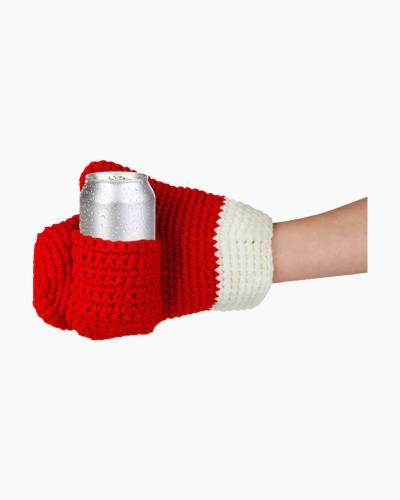 Santa's Drinking Mitten Can Holder